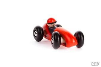Bil i trä som svänger - röd
