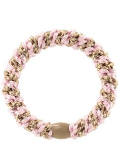 Hårsnodd - Kknekki Light Pink/Beige glitter