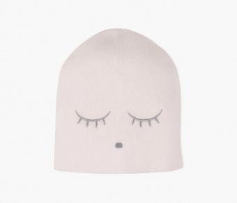 Mössa - Cashmere beanie hat - light mauve