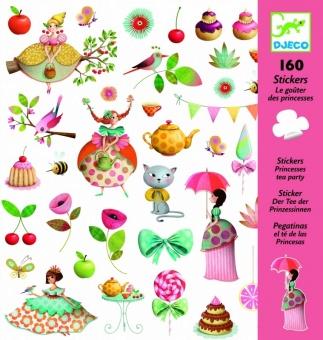 Klistermärken - Princesses tea party