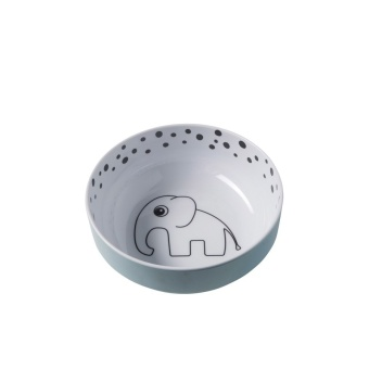 Skål - Happy dots, Yummi bowl, Blue