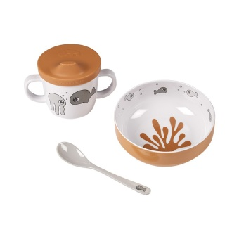 Matset - First meal set Sea friends Mustard/Gre