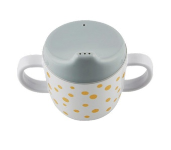 Pipmugg - Happy dots - gold/grey