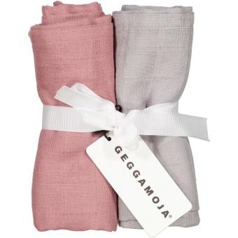Filt Muslinfilt 2-Pack Dust rosa/Grå