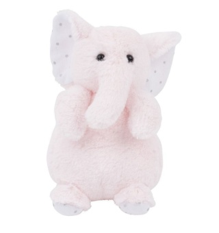 Gosedjur elefant - Charlie Elephant tiny, rosa