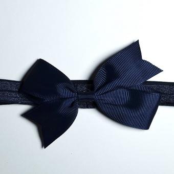 Hårband Rosett Marinblå Liten