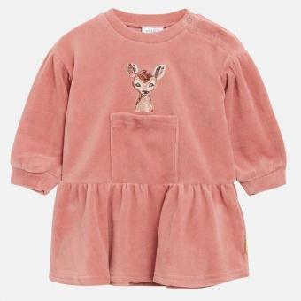 Klänning baby velour (Ash Rose)