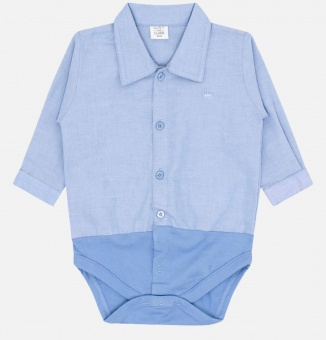 Skjortbody - Blå