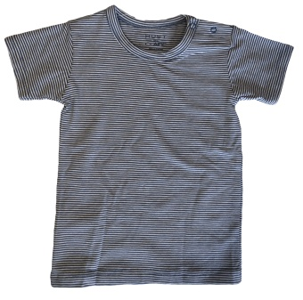T-shirt randig blå/vit