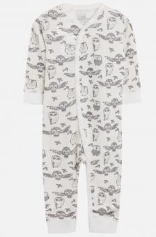 Pyjamas Heldress ugglor (bambu ull)
