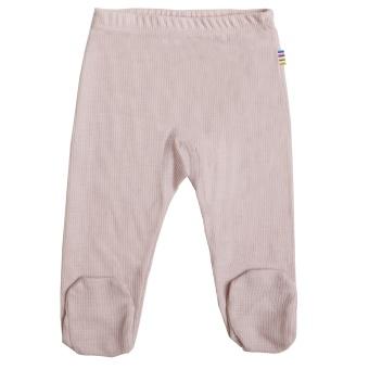 Leggings med fot violet ice merinoull/silke