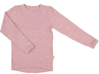 Tröja - underställ rosa merinoull