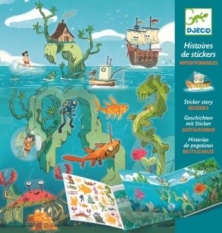 Klistermärken återanvändningsbara - Adventures at sea
