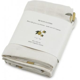 Filt - 3-pack muslin filtar - Lemon