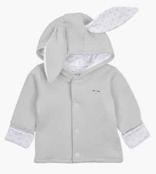 Cardigan Bunny grey jacquard