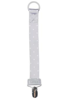 Napphållare Saturday grå med vita prickar