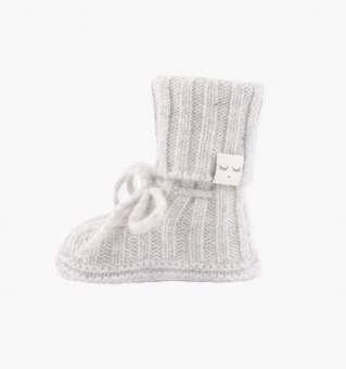 Tossor - Cable knit cashmere footie - grå