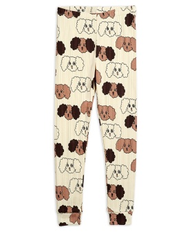 Leggings - Fluffy dog aop (beige)