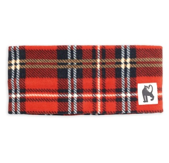 Halsduk tub - Fleece check (red)