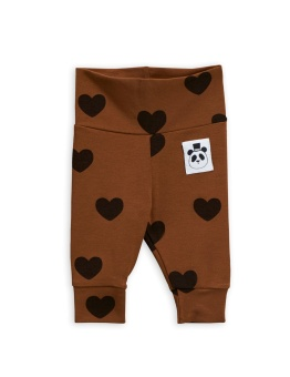 Leggings - Hearts nb brown (TENCEL)