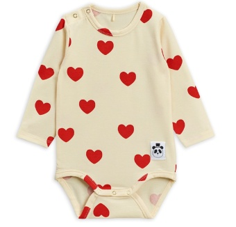 Body - Hearts offwhite (TENCEL)