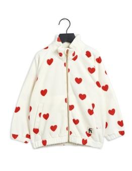 Jacka - Hearts fleece (Offwhite)