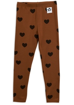 Leggings - Hearts leggings brown (TENCEL)