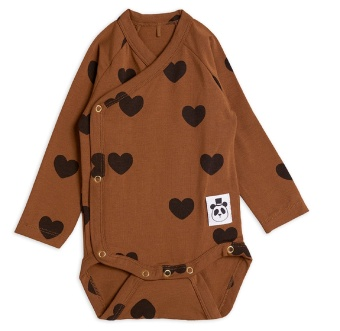 Body omlott - Hearts brown (TENCEL)