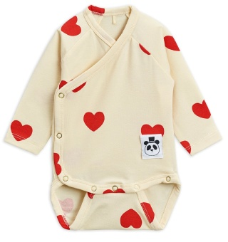 Body omlott - Hearts offwhite (TENCEL)