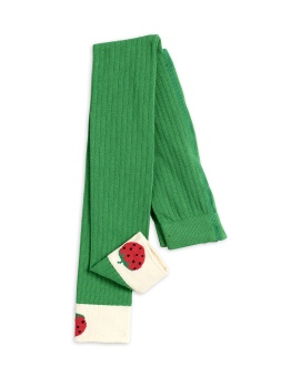 Leggings - Ribbed strawberry green