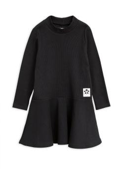 Klänning - Solid Rib Turtleneck Black