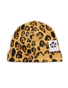 Mössa Basic leopard baby (Tencel)