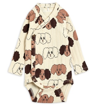 Body omlott - Fluffy dog aop (beige)