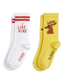 Strumpor 2-pack Hike+Deer socks