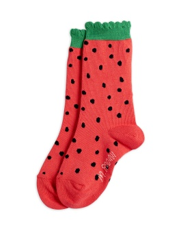 Strumpa - Strawberry scallop socks