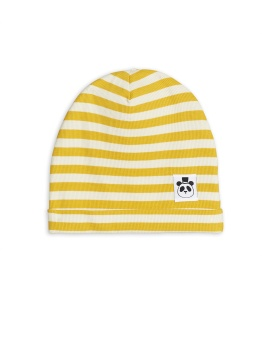 Mössa - Stripe rib (yellow)