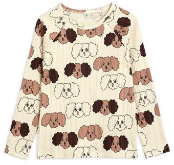 Tröja - Fluffy dog aop (beige)