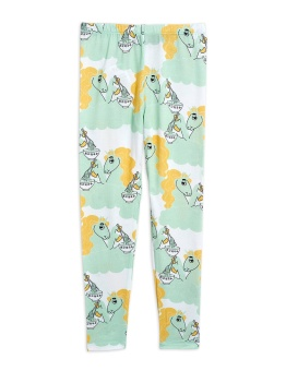 Leggings - Unicorn noodles aop Green
