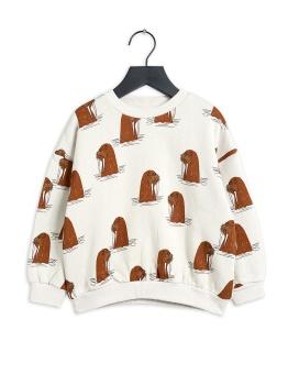 Tröja - Walrus aop Sweatshirt Grey