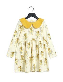 Klänning - Winterflowers aop ls Dress Yellow