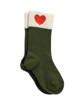 Strumpor - Heart socks - green