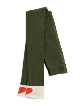 Leggings - Ribbed heart leggings - green