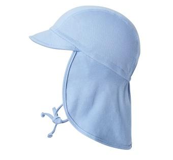 Solhatt med förlängd nacke (blå)  UV50+