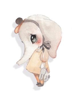Väggdekal - Miss Ellie