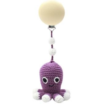 Barnvagnshänge - Octopus Dark purple