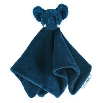 Snuttis i velour - Elefant Mörk Blå