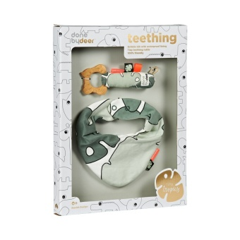 Presentförpackning - Bib & teether gift box, Tiny tropics
