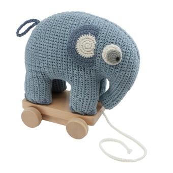 Dragleksak - Elefanten fanto powder blue