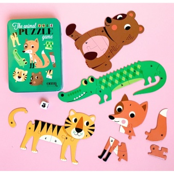 Spel - Puzzle Dice GAME - Animals
