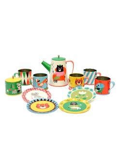 Servis i plåt - Tin Tea Set
